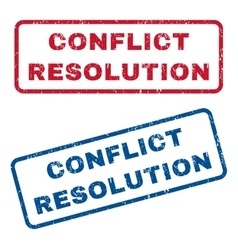 Conflict resolution rubber stamps vector