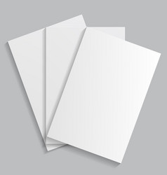 a stack of white sheets of paper vector image