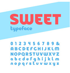 Bold font alphabet with letters and numbers vector