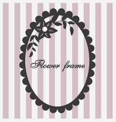 vintage frame flower ornament pink vector image