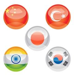 Flag buttons vector