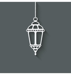 Ramadan lantern design element vector