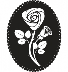 vector rose card vector image