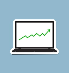 Stock raise up high with laptop vector