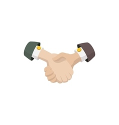 Business agreement handshake icon cartoon style vector