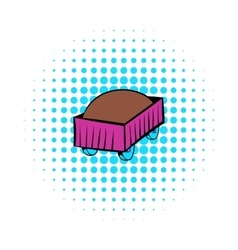 Freight carriage icon comics style vector