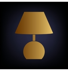 Lamp sign golden style icon vector