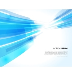 Abstract blue lines light business background vector