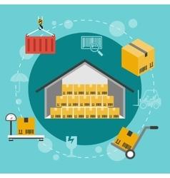 Warehouse flat vector image