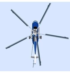 Blue helicopter mi 8 vector