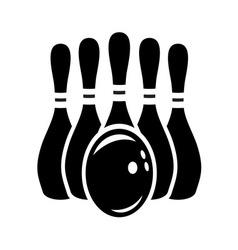 bowling stroj1 vector image vector image
