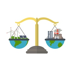 Concept of alternative energy sources vector image vector image