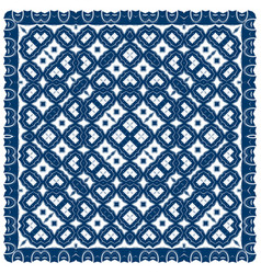 creative carpet pattern blue color vector image