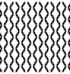 Design seamless monochrome ellipse lines pattern vector