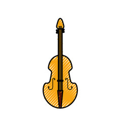 Fiddle musical instrument classic object vector