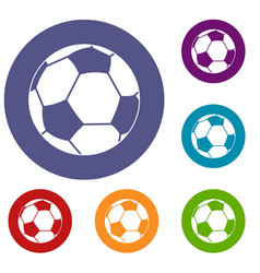 football ball icons set vector image