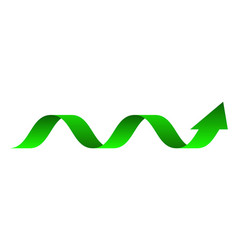 Green arrow up arrows statistic graphi vector