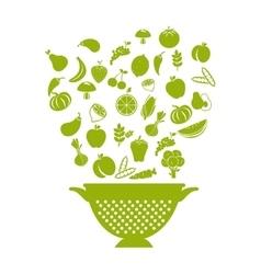 healthy food menu icon vector image