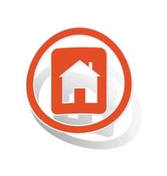 House plate sign sticker orange vector