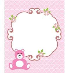 invitation card pink vector image vector image