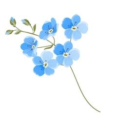 Linen flower vector
