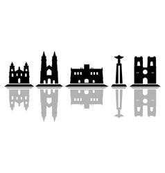 lisbon skyline vector image