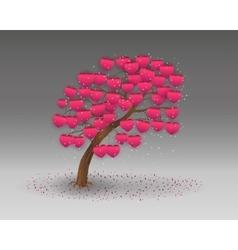 Love tree having heart shapes vector
