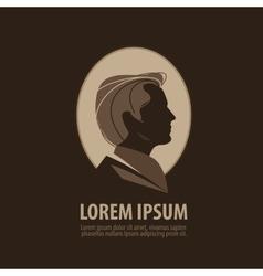 man logo design template barber shop or vector image vector image