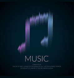 modern logo or emblem music note in the form of vector image vector image