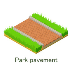 Park pavement icon isometric style vector