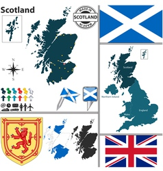 Scotland map vector