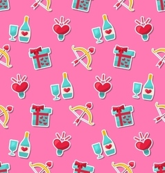 Seamless Pattern with Traditional Objects and vector image vector image