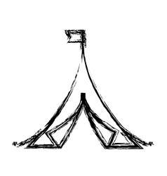 Shelter tent icon vector