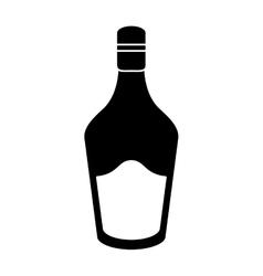 Silhouette bottle cream whiskey liqueur icon vector