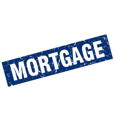 Square grunge blue mortgage stamp vector