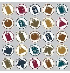 Tag icons set retail theme simplistic symbols vector image vector image