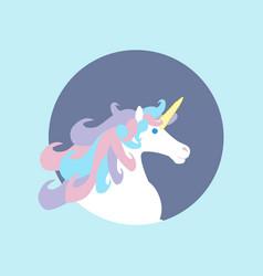 unicorn horse head vector image