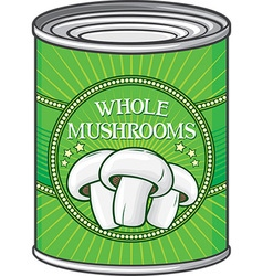 Whole mushrooms can vector
