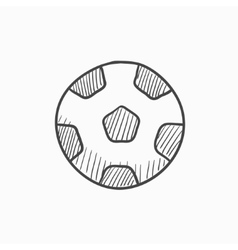 Soccer ball sketch icon vector
