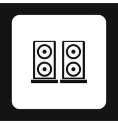 Two audio speakers icon simple style vector