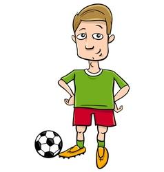 football player character cartoon vector image