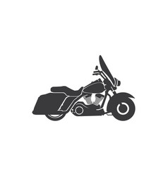 Harley davidson american style motorcycle vector