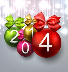 2014 christmas balls on bright background vector image