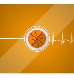 Basketball for life vector