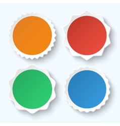 Set of blank stickers promotional labels vector