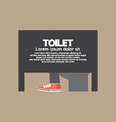 Man in a toilet room vector