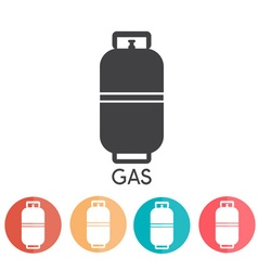 Liquid propane gas abd web icons vector