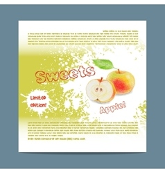 Template candy packaging apple sweets vector