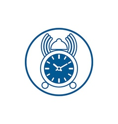 Time conceptual stylish icon simple desk clock vector
