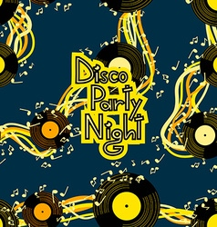 Music flyer to disco party night vector